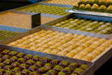 tray's of baklava.