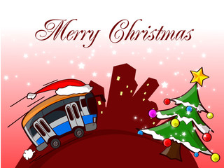bus merry christmas