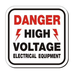 danger high voltage electrical equipment sign