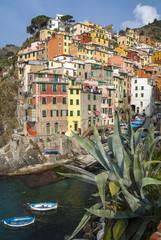 Riomaggiore village on Cinque Terre Italy