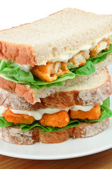 Fish Finger Sandwich detail