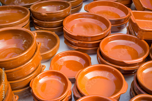 Earthenware pots and pans