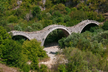 Old stone bridge on Epirus, Greece