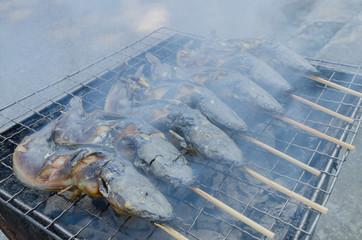 Thai food Grilled Catfish