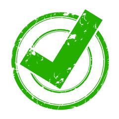 tampon vert - validé - checkbox