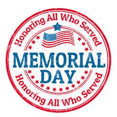 Memorial day stamp