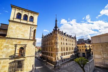 Botines Palace in Leon (Castilla y Leon), Spain