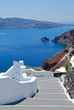 Classical greek architecture with caldera background