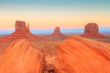 Monument Valley twilight, AZ, USA