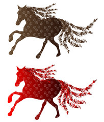New Year 2014 - Year of the Horse - Vector Illustration