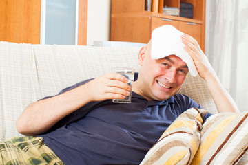 adult  man having headache