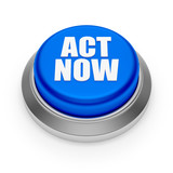 Blue round act now button