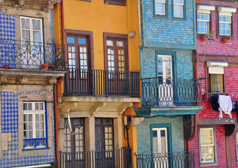 Multicolor houses of Porto