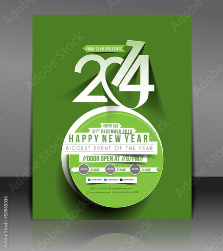 New Year Party Flyer & Poster Cover Template