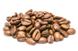 Coffee Beans Pile On White Background