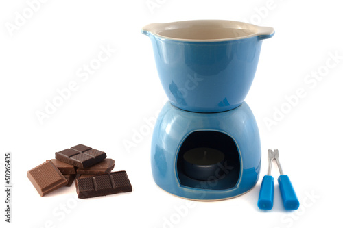 ware for a fondue and chocolate