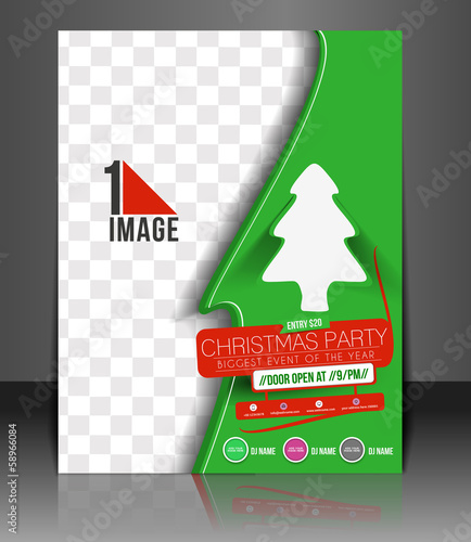 Christmas Party Flyer & Poster Cover Template