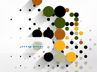 Dots abstract geometric shape background