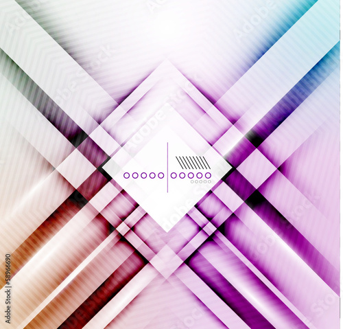 Vector blur lines geometric shape background