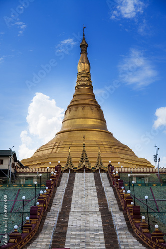 Uppatasanti pagoda,landmark of Naypyidaw, capital of Myanmar