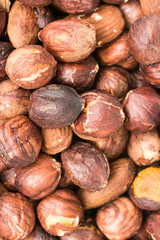 Roasted Hazelnuts Closeup Details Background