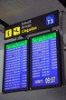 Flight information monitors, Malaga airport © Arena Photo UK