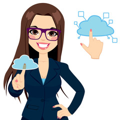 Cloud Computing Businesswoman Concept