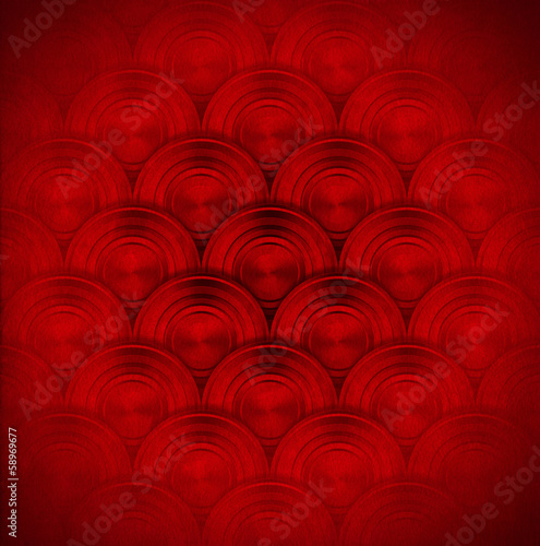 Red Metal Circles Background