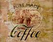 Metallbild - Pure Made Coffee
