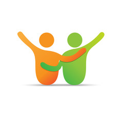 Vector Logo solidarity, friendship and brotherhood
