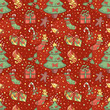 Christmas pattern with confetti