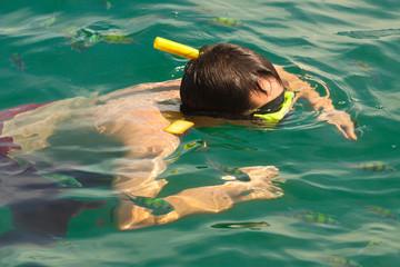 loisir aquatique dans une eau turquoise, Thaïlande