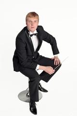 Music conductor portrait