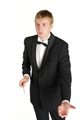 Young music conductor