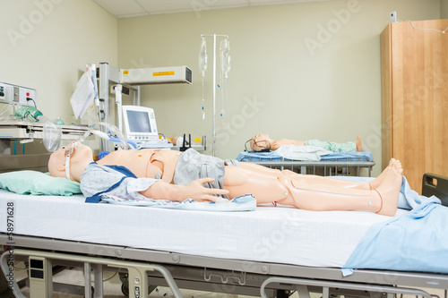 Dummies On Hospital Bed