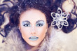 Winter snow queen - beauty woman