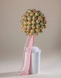 Sweet and delicious popcake tree with colorful sprinkles