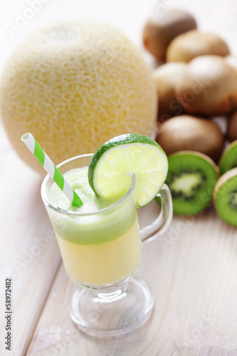 kiwi and melon juice