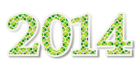 2014 mit Glücksklee