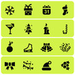 Christmas symbols iconsv