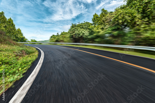 Empty Road with Speed in Asia Phuket