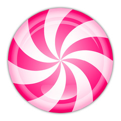 Vector illustration of peppermint candy