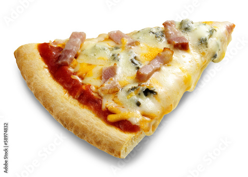 pizza portion isolated