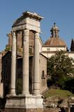 Ancient columns with Corinthian capitals poster