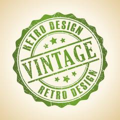 Vintage retro design stamp