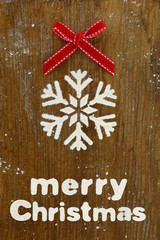 Creative Christmas baking background