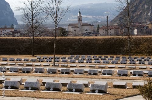 Cemetery of the victims of Vajont dam