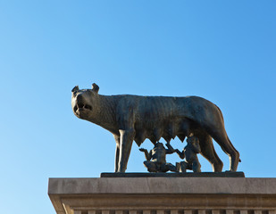Romulus and Remus are Rome's twin founders in its traditional fo