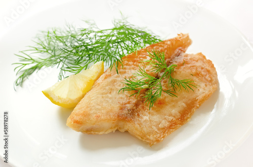 Fried fish fillet