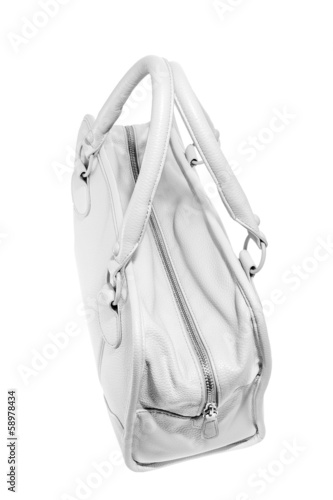 Preview ladies fashionable white leather handbag